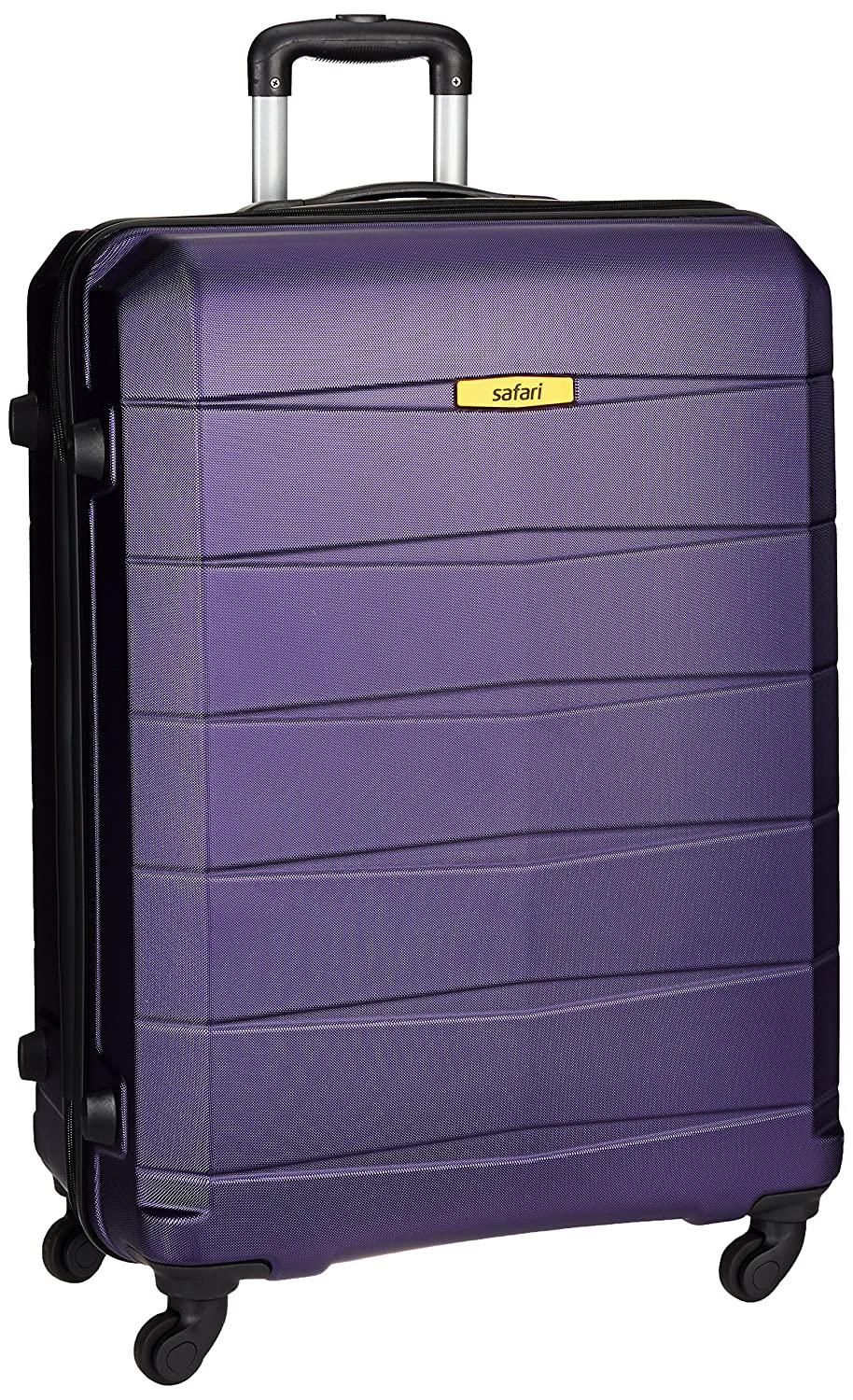 Safari Regloss Antiscratch 76 Cms Polycarbonate Purple Check-In 4 wheels Hard Suitcase