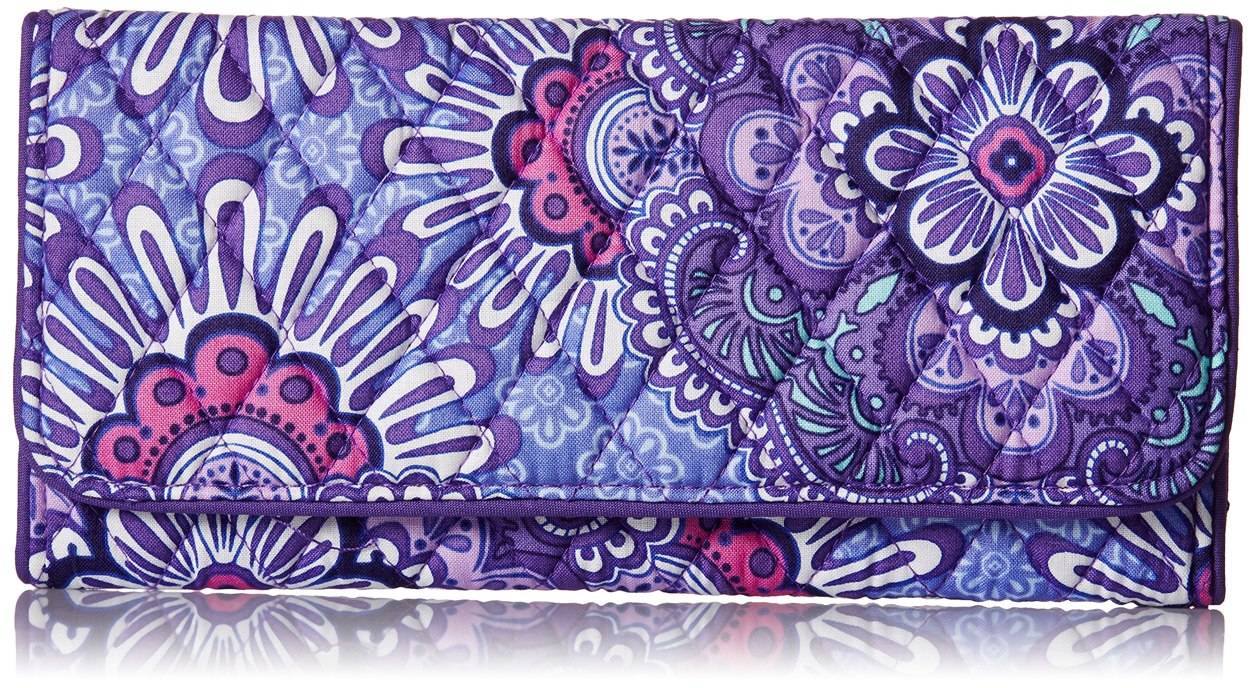 Vera Bradley Trifold Wallet, Lilac Tapestry, One Size