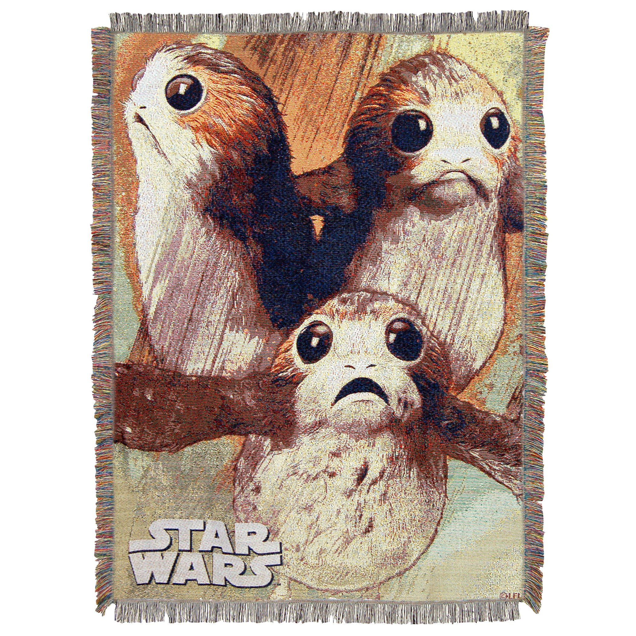 Disney's Star Wars: The Last Jedi, ''Little Guys'' Woven Tapestry Throw Blanket, 48'' x 60'', Multi Color