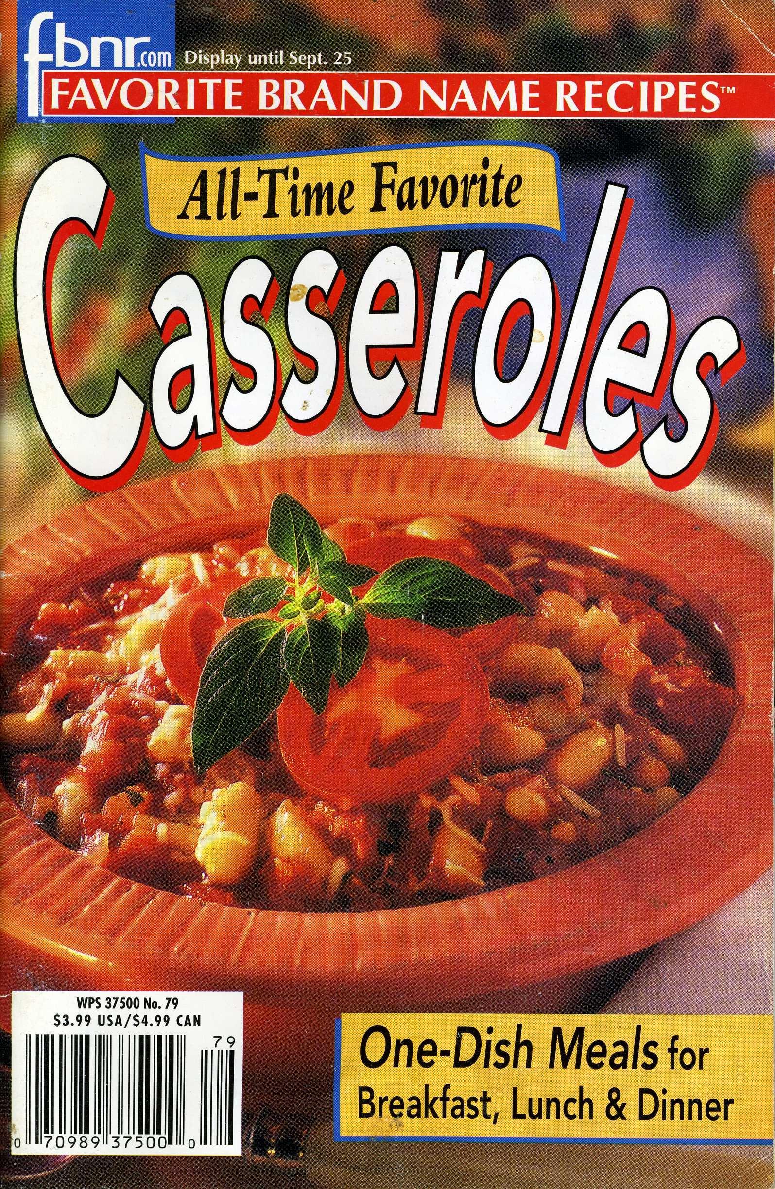 All-Time Favorite Casseroles Vol. 6 (Sept. 25th, 2001) No. 79 (Favorite Brand Name Recipes) ebook