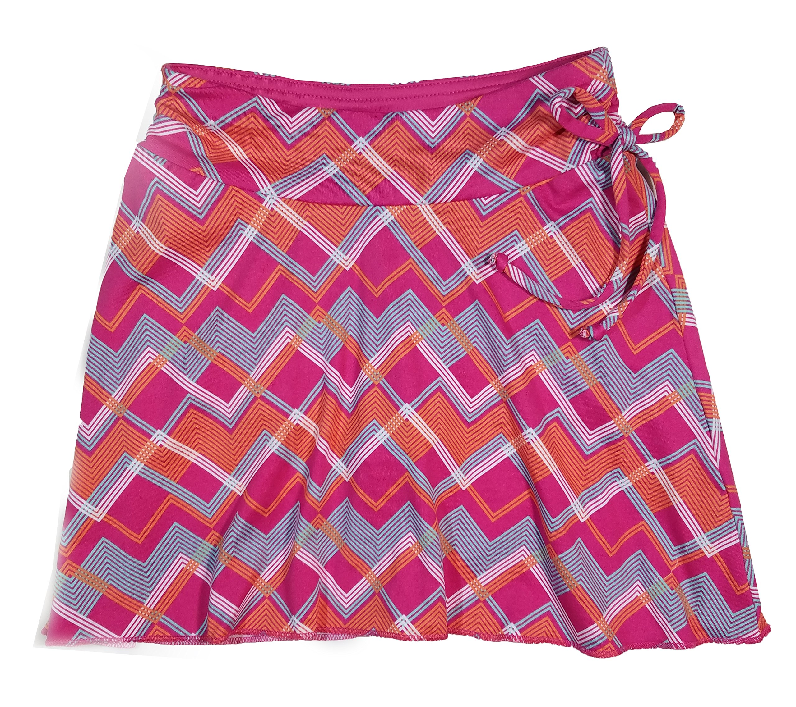 Colorado Clothing Tranquility Girls Sporty Skort (Large (10), Pink Zig Zag)