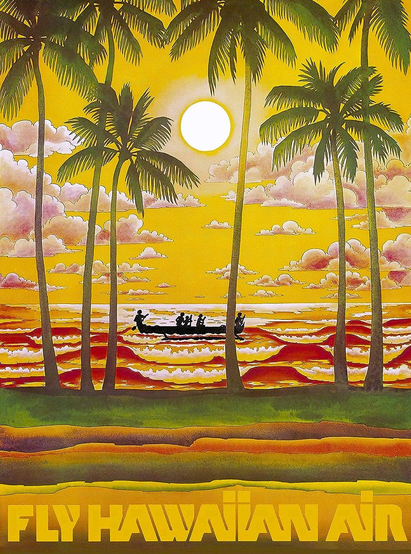 Amazon.com: Fly Hawaiian Air Hawaii Hawaiian Airlines Vintage ...