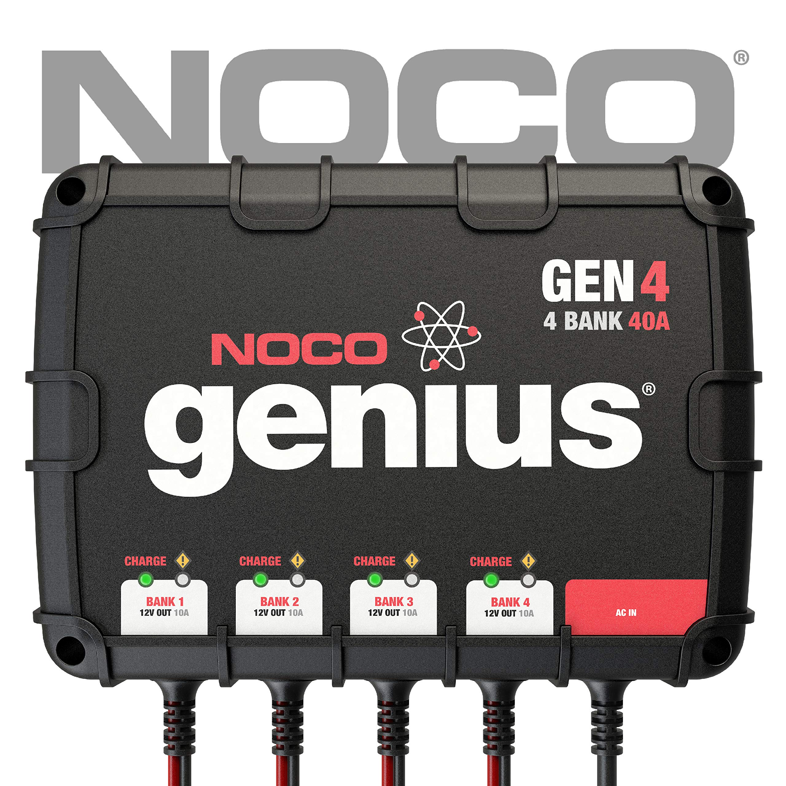 NOCO Genius GEN4 40 Amp 4-Bank On-Board Battery Charger by NOCO