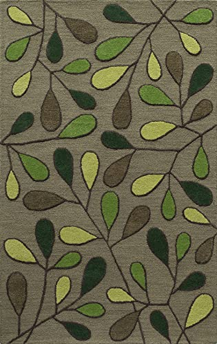 Momeni Rugs Dunes Collection, Hand Tufted 100 Wool Transitional Area Rug, 3 6 x 5 6 , Green