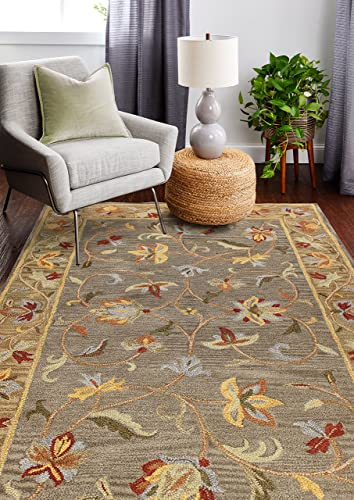 Bashian venetian collection CL104 hand tufted 100 wool area rug, 7.6 x 9.6 , Grey