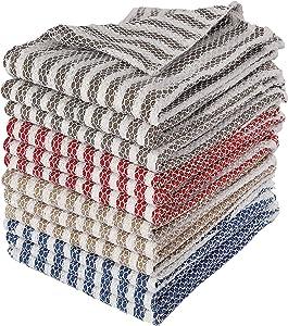 Bliss Casa Dish Cloth Scrubber (12 Pack) Kitchen Cloth Scrubber for Cleaning Multipurpose Cleaning Cloths