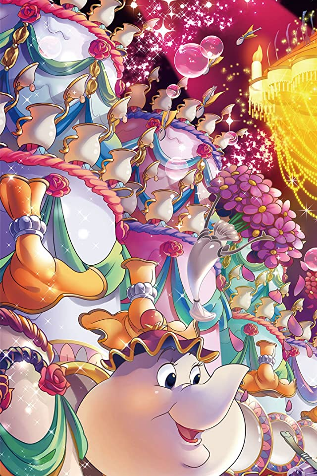 ディズニー ポット夫人 iPhone(640×960)壁紙画像