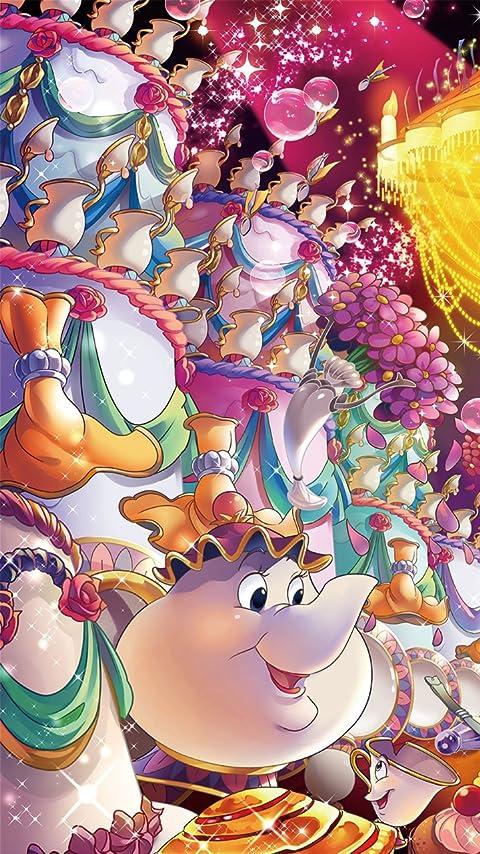 ディズニー ポット夫人 XFVGA(480×854)壁紙画像