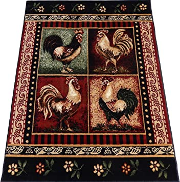 Amazon Com Roosters Kitchen Carpet 8 X 11 Dining