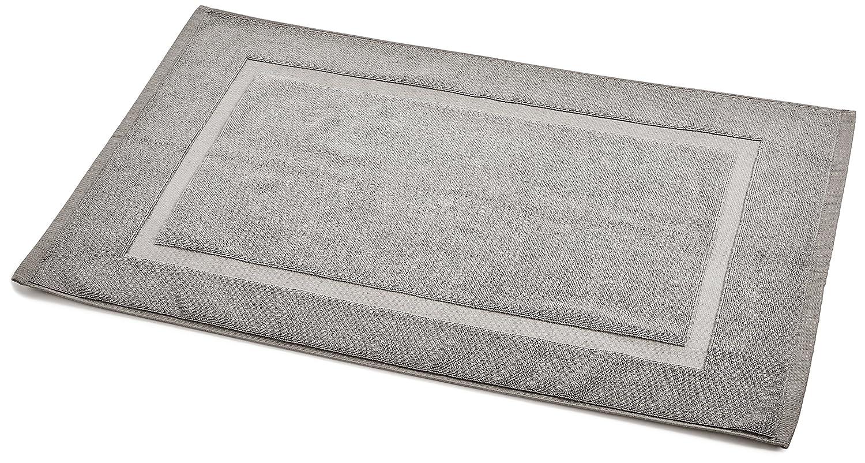 AmazonBasics Banded Towel-like Bath Mat, Grey