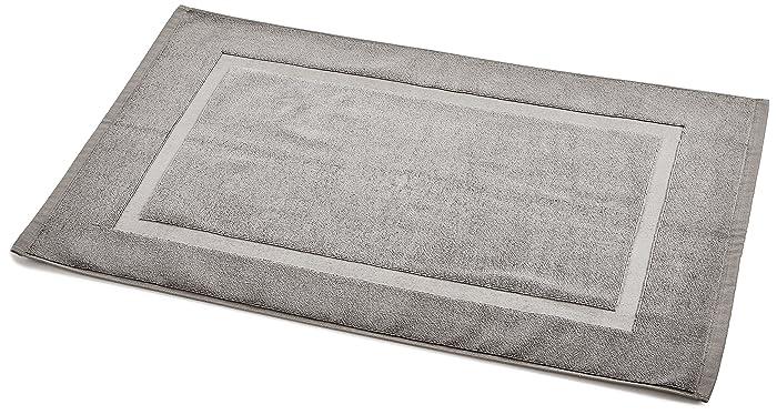 AmazonBasics Banded Bath Mat, 20 x 31 inch, Grey, 4-Pack