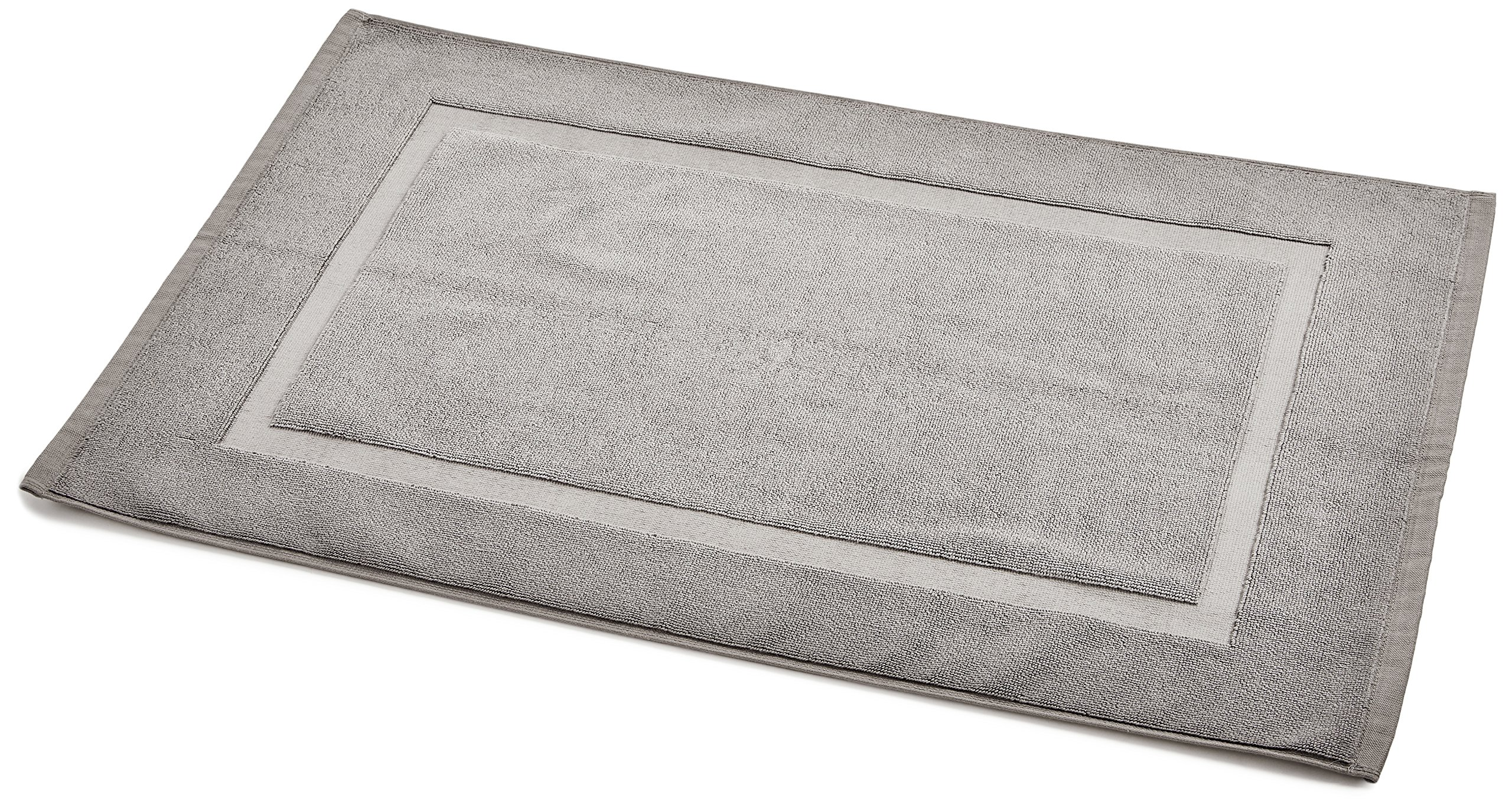 AmazonBasics Banded Bath Mat, Grey by AmazonBasics