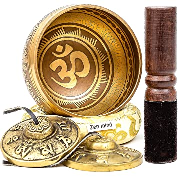 Amazon.com: Zen Mind Design - Cuenco de metal tibetano para ...