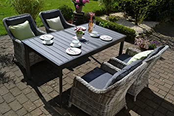 Amazonde Bomey Rattan Lounge Set I Gartenmöbel Set Como 5 Teilig I