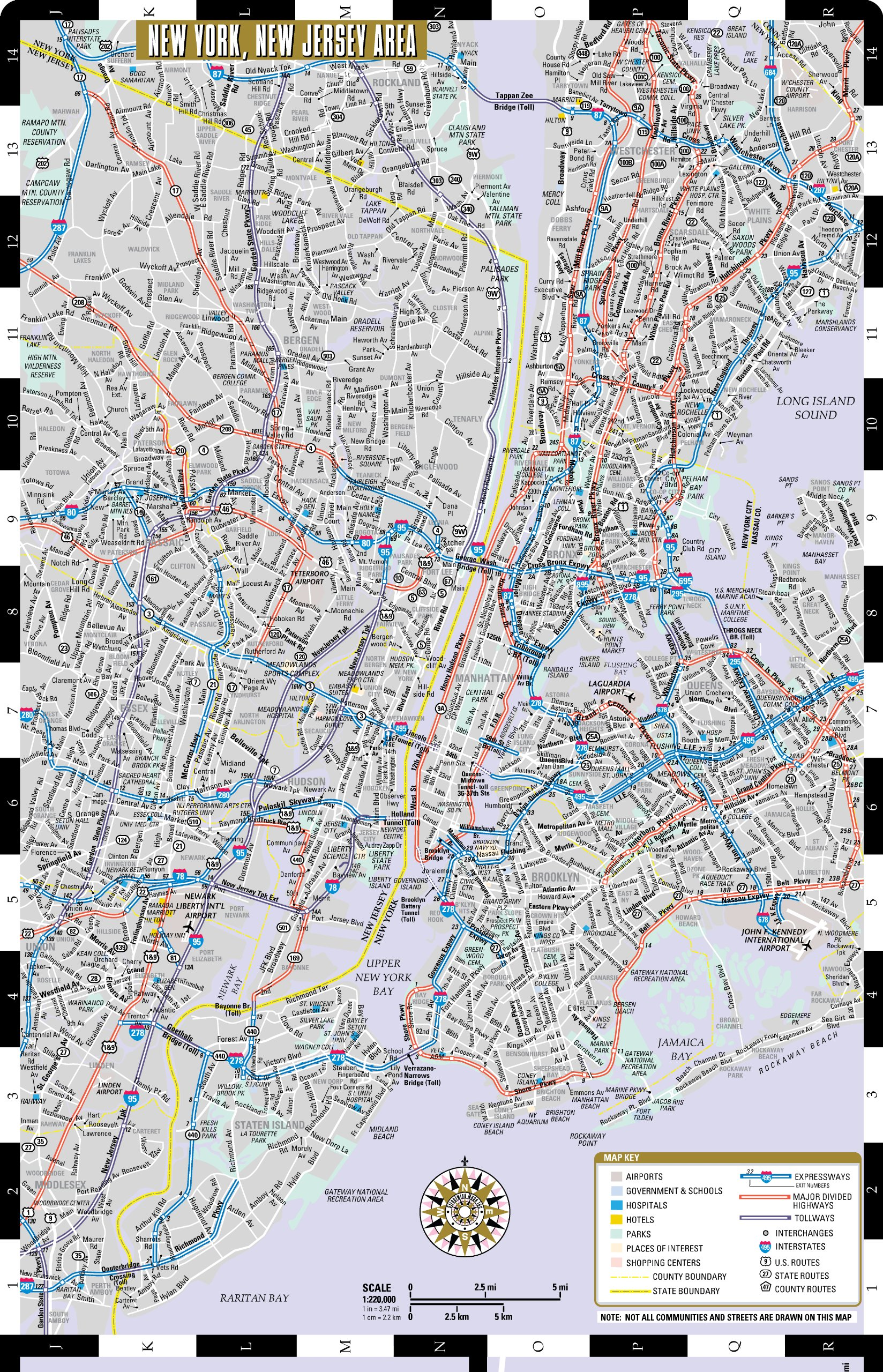 Streetwise New Jersey Map United States States Laminated ...