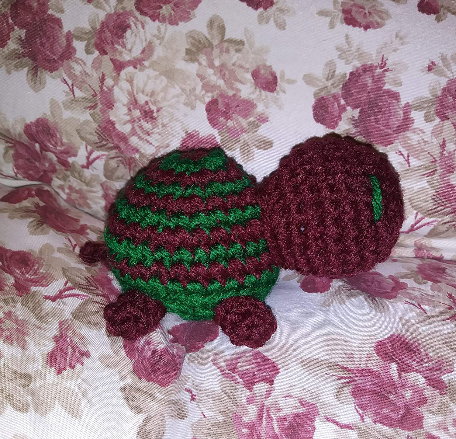 Claret /& Green Striped Turtle Plush