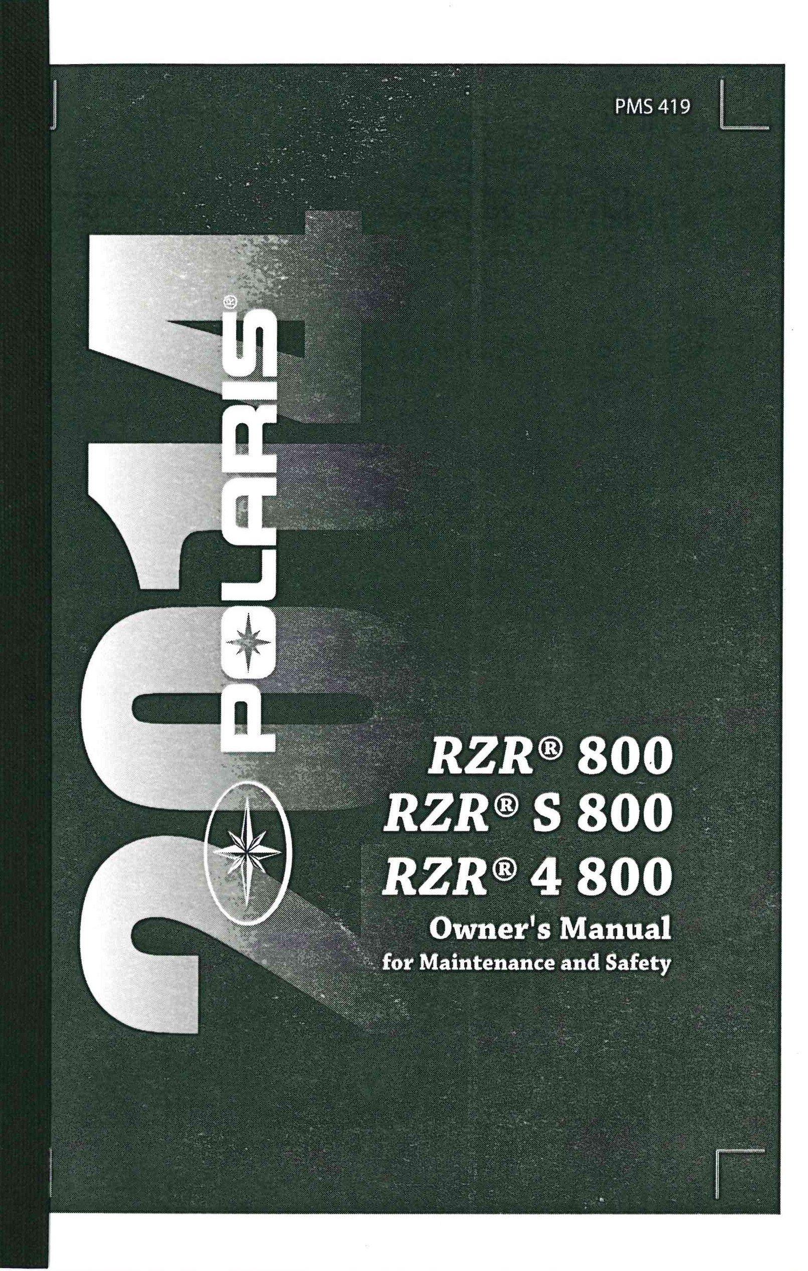 manual polaris rzr 800