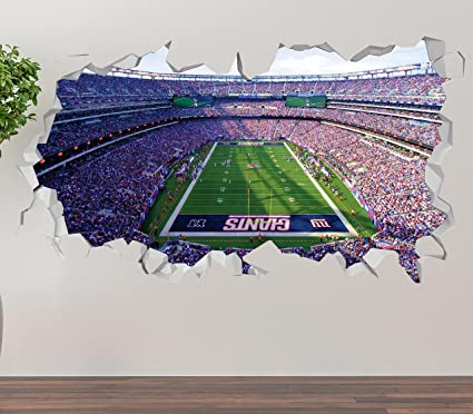 New York Giants MetLife Stadium Wall Decal Smashed 3D Sticker Vinyl Decor  Mural NFL - Broken aafa2bb2a