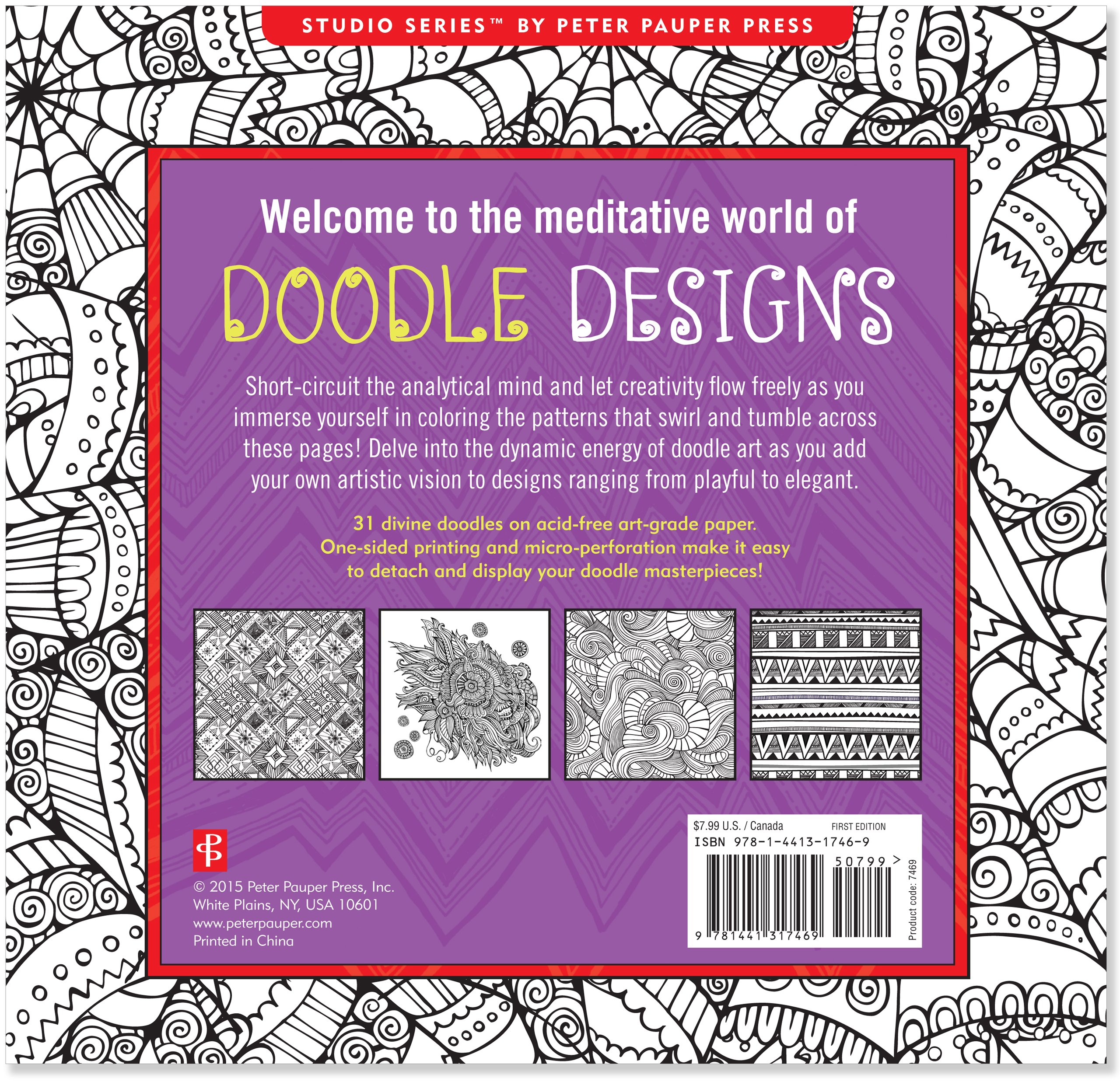 Short u coloring pages - Amazon Com Doodle Designs Adult Coloring Book 31 Stress Relieving Designs Studio 9781441317469 Peter Pauper Press Books