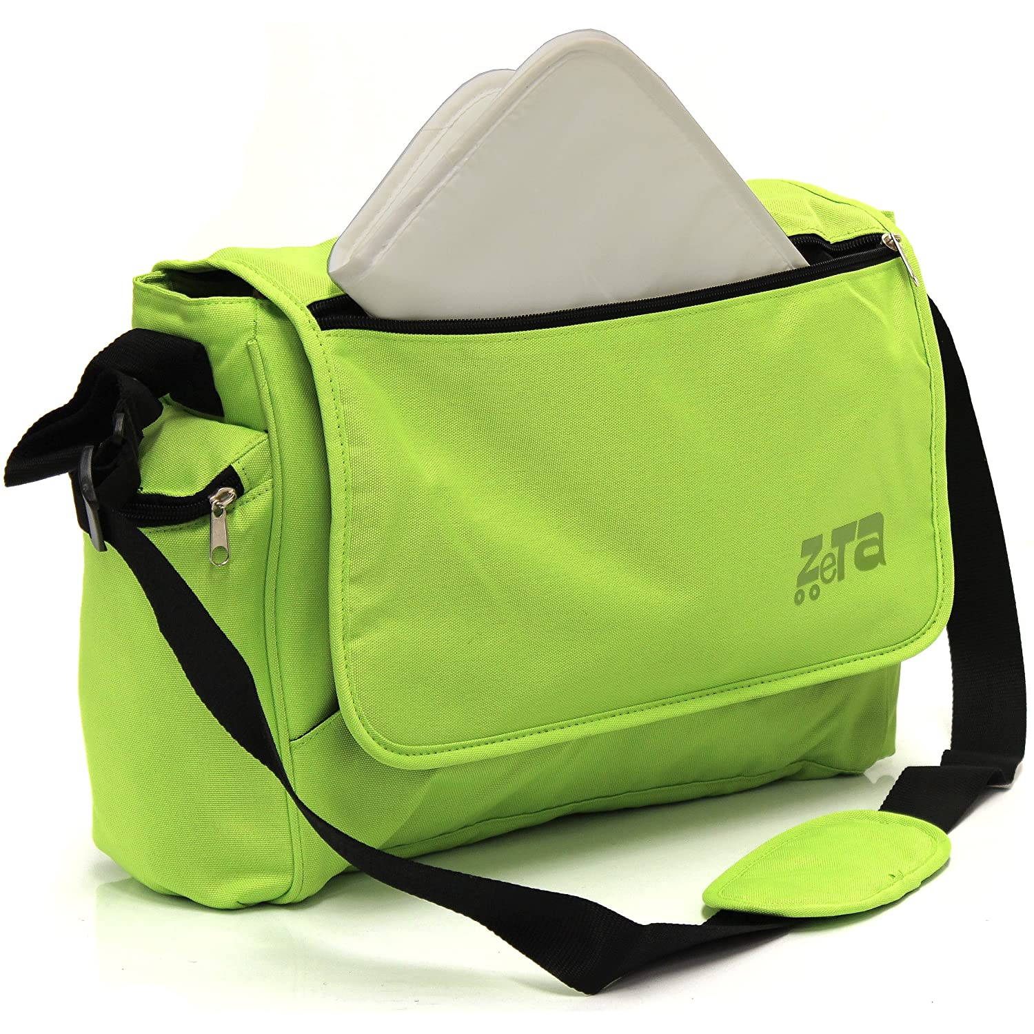 Zeta Luxury Changing Bag Complete with Changing Bag (Large, Lime) ZE307