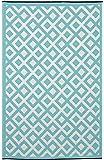 Fab Habitat 120 x 180 cm, motivo: Marina, in polipropilene, colore: guscio d'uovo, colore: blu/bianco