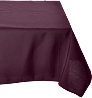 LinenTablecloth 60 X 126 Inch Rectangular Polyester Tablecloth Eggplant