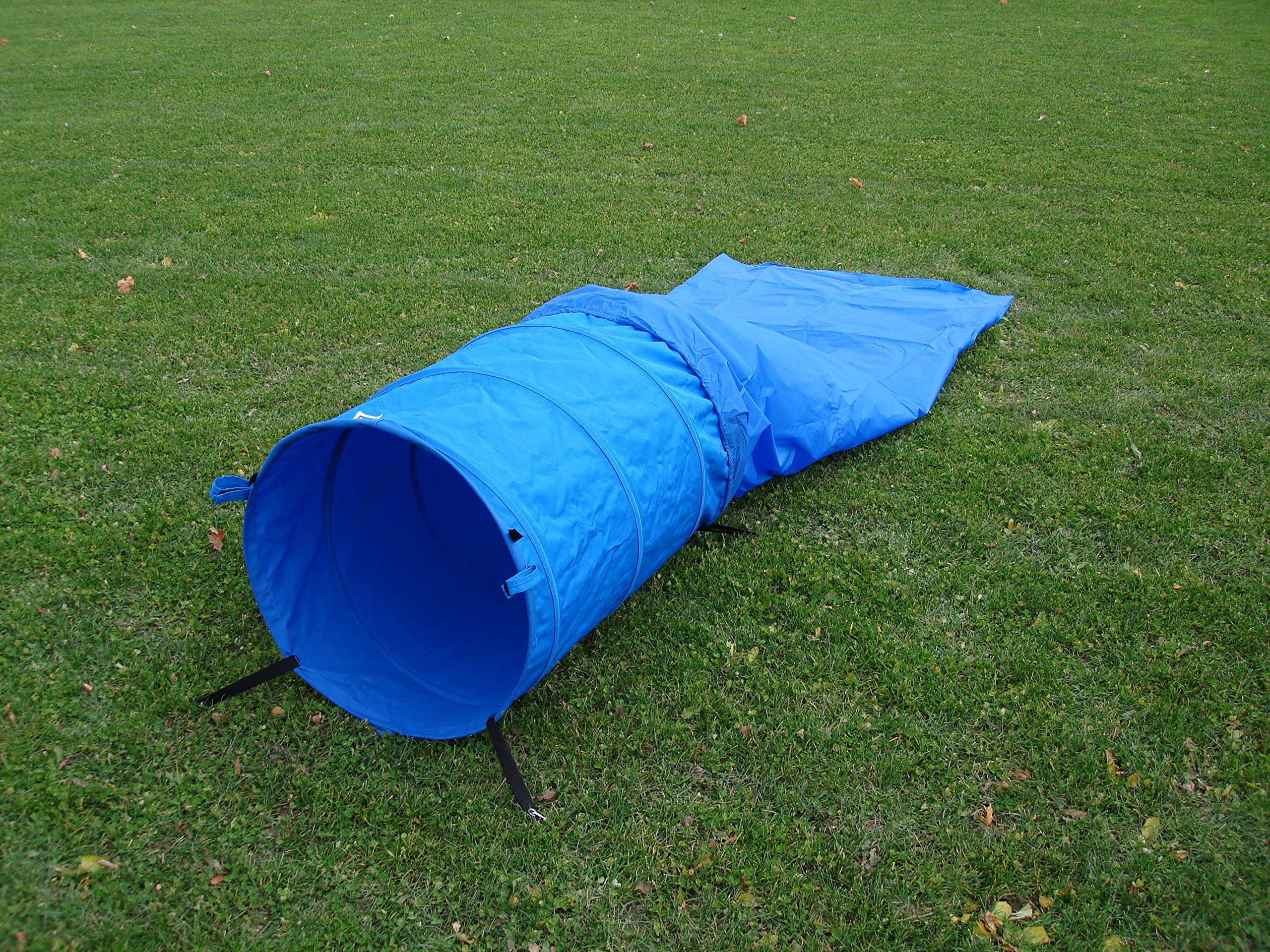 3 ft Blue Practice Tunnel with 24'' diameter and detachable Blue Chute