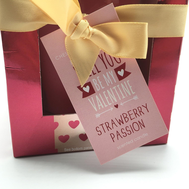 Bahía de Chesapeake fresa pasión - vela aromática en caja de regalo se You ser mi San Valentín: Amazon.es: Hogar