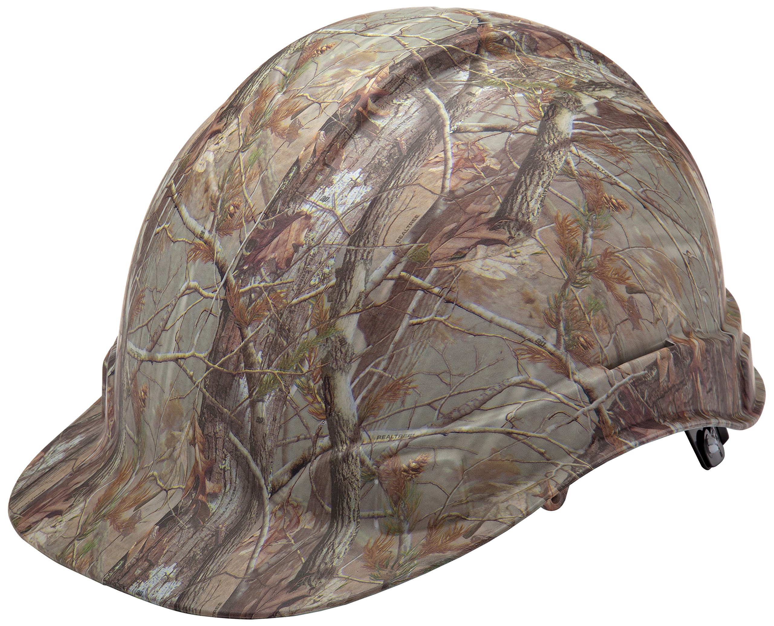 Pyramex Ridgeline Cap Style Hard Hat, 4-Point Ratchet Suspension, Matte Camo Pattern