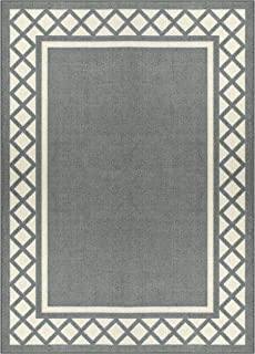 product image for Maples Rugs Bella Area Rugs for Living Room & Bedroom [Made in USA], 5 x 7, Grey