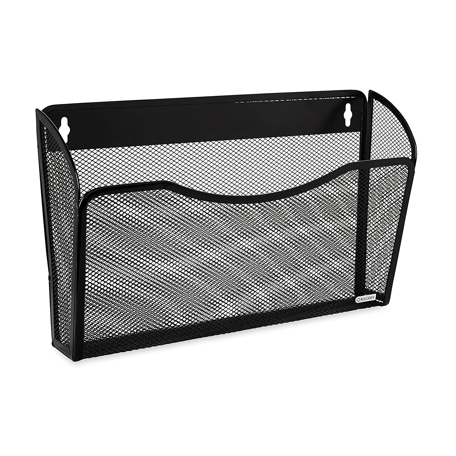 Amazon.com : Rolodex Mesh Collection Single-Pocket Wall File, Black ...
