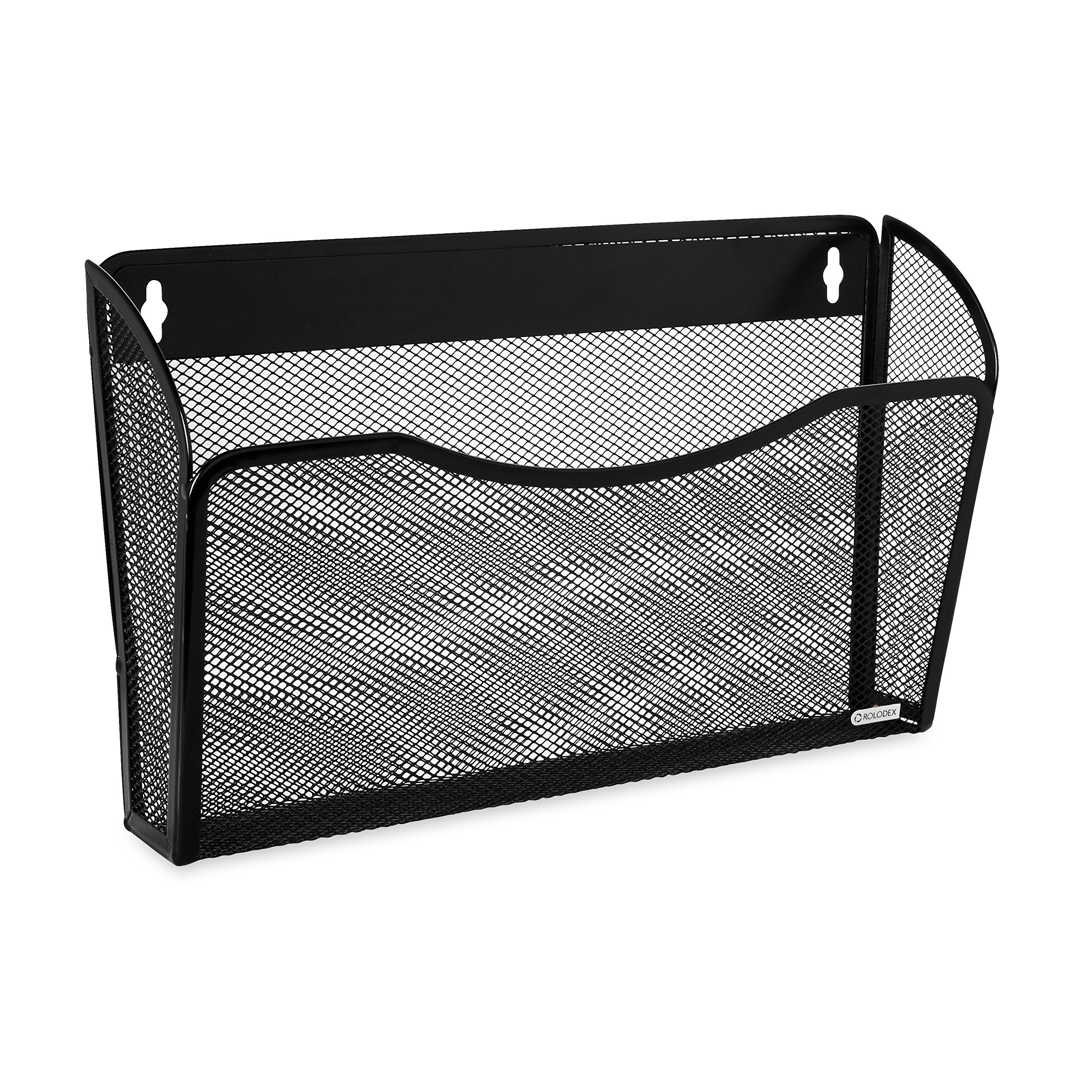 Rolodex Mesh Collection Single-Pocket Wall File, Black (21931) by Rolodex