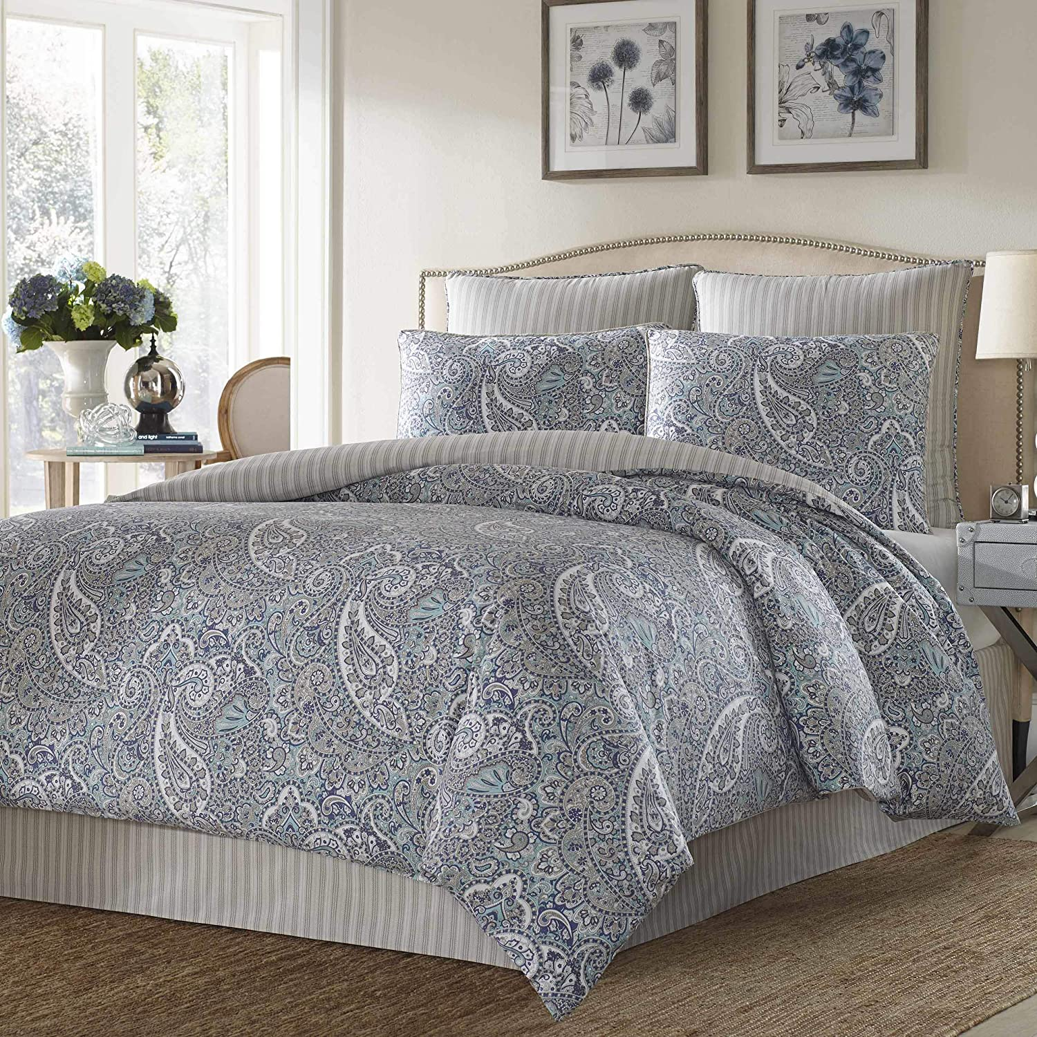 Stone Cottage Cotton Sateen Comforter Set, Full/Queen, Lancaster