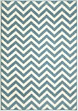 "Momeni Rugs BAJA0BAJ-9BLU1837 Baja Collection, Contemporary Indoor & Outdoor Area Rug, Easy to Clean, UV protected & Fade Resistant, 1'8"" x 3'7"", Blue"