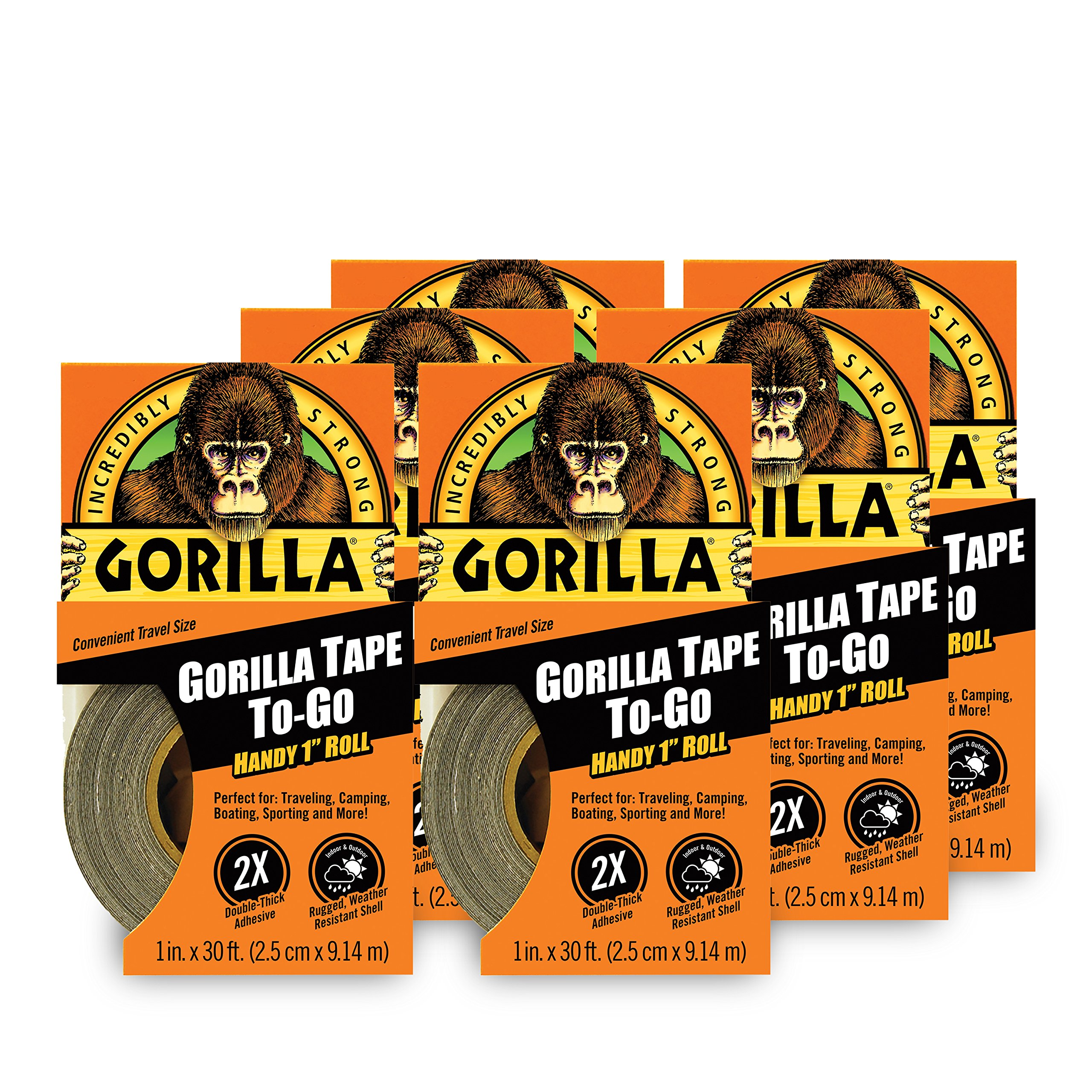 Gorilla Tape To-Go, 6 Pack by Gorilla