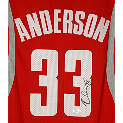 4c969051069 Ryan Anderson Houston Rockets Signed Autographed Red  33 Custom Jersey Size  XL JSA COA