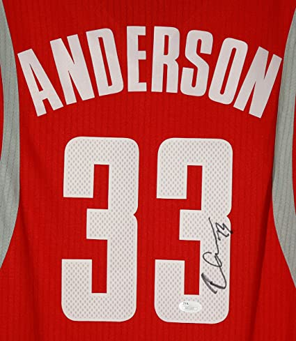 cheap for discount c62a1 79474 Ryan Anderson Houston Rockets Signed Autographed Red #33 ...