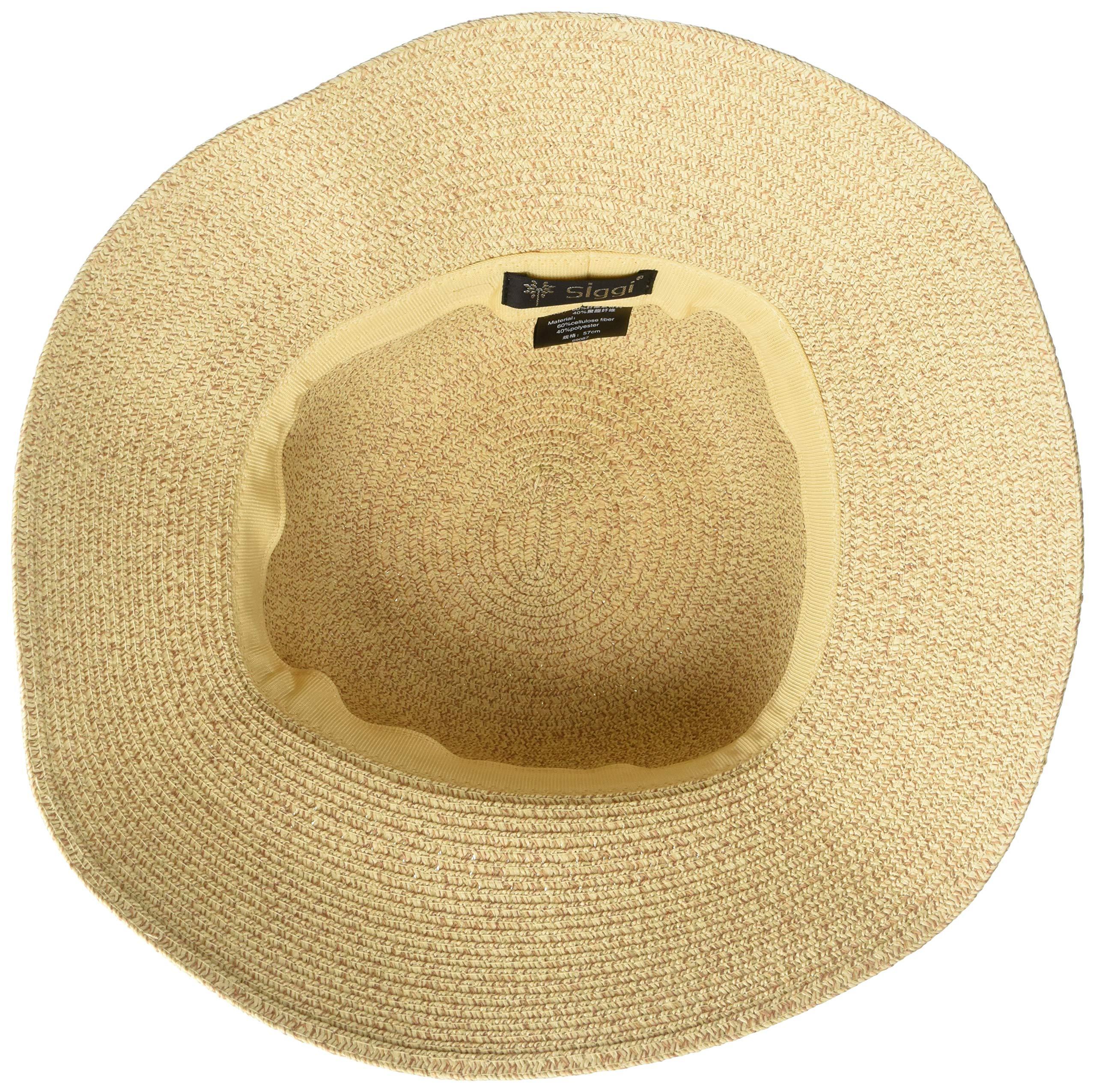 60794785cd8 Packable UPF Straw Sunhat Women Summer Beach Wide Brim Fedora Travel ...