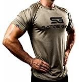 Satire Gym Fitness T-Shirt Herren - Funktionelle Sport Bekleidung - Geeignet Für Workout, Training - Slim Fit