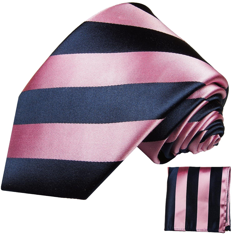 Einstecktuch schwarz by Paul Malone Schwarze Krawatten Set 2tlg 100/% Seidenkrawatte
