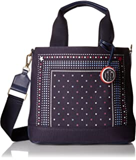 d68df2a46 Amazon.com: Tommy Hilfiger Bag for Women Canvas Item Tote: Clothing