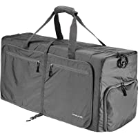 QYUHE 80L Foldable Duffle Bag Extra Large Tear Resistant Luggage Bag for Shopping Travel Gym Sports Men Women Teens (Gray)