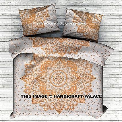 Indian Mandala Quilt Duvet Cover Bedding Set Bedspread Single Double King Size