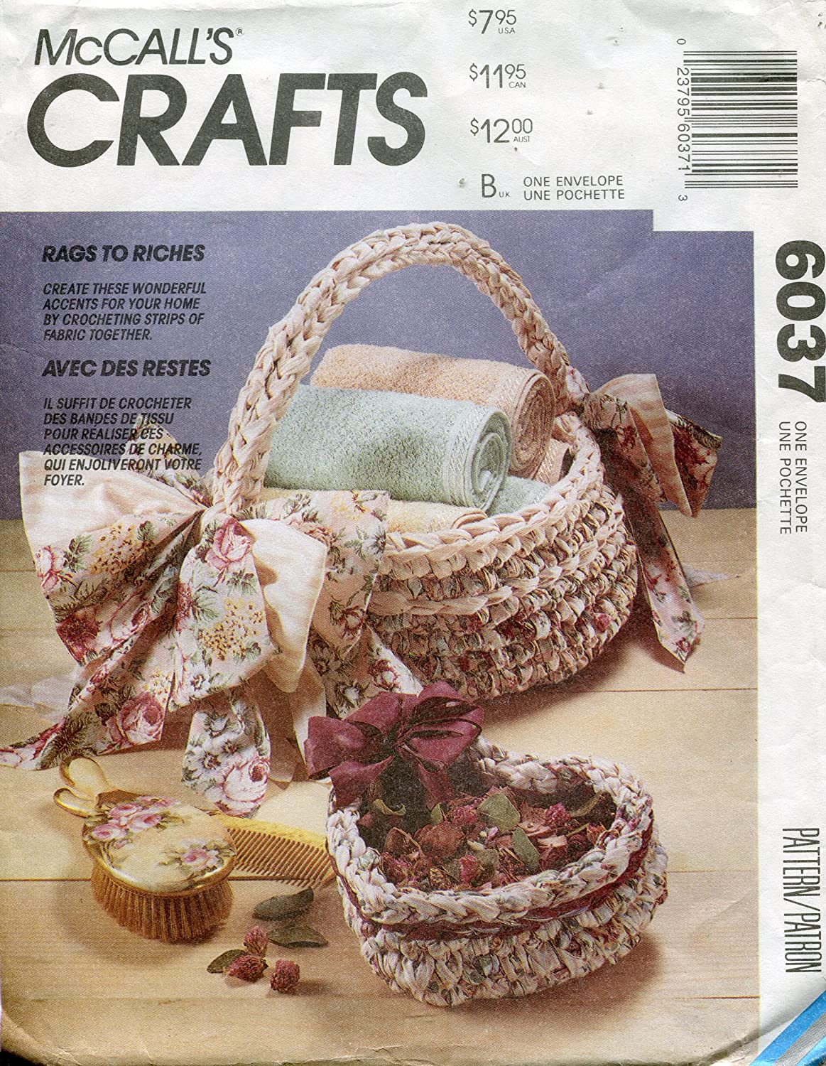 McCall's Crafts Pattern 6037 Rag Crochet Package McCall's