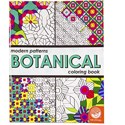 MindWare – Modern Patterns Botanical Coloring Book – 24 Unique Puzzles – Teaches Creativity and Fosters Imagination: Toys & Games