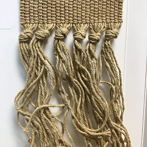 Style 391 Cotton Knotted Carpet Fringe 30 feet, 391 Beige