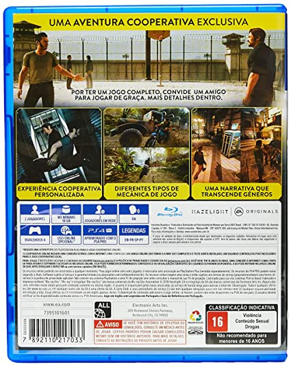 6186ee20a A Way Out - PlayStation 4  Amazon.com.br  Games