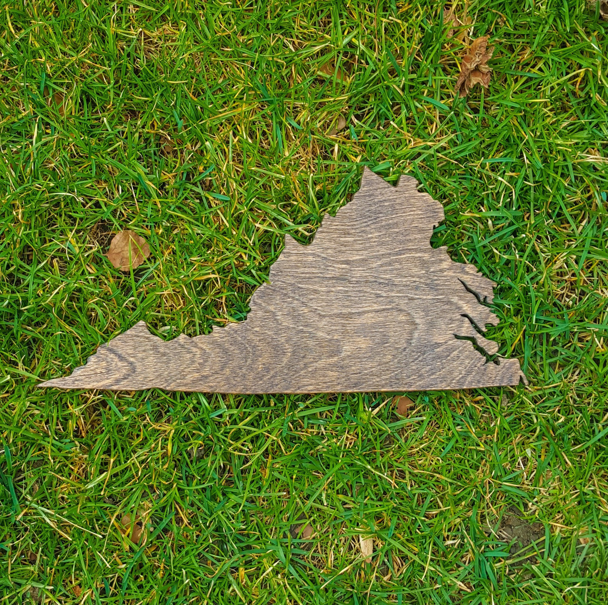 Rustic Virginia State Wooden Gallery Wall Art Cutout Office College Dorm Home Bedroom Decor