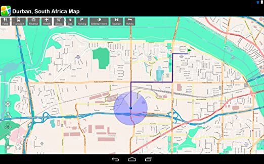 Amazon Com Durban South Africa Offline Map Place Stars Appstore
