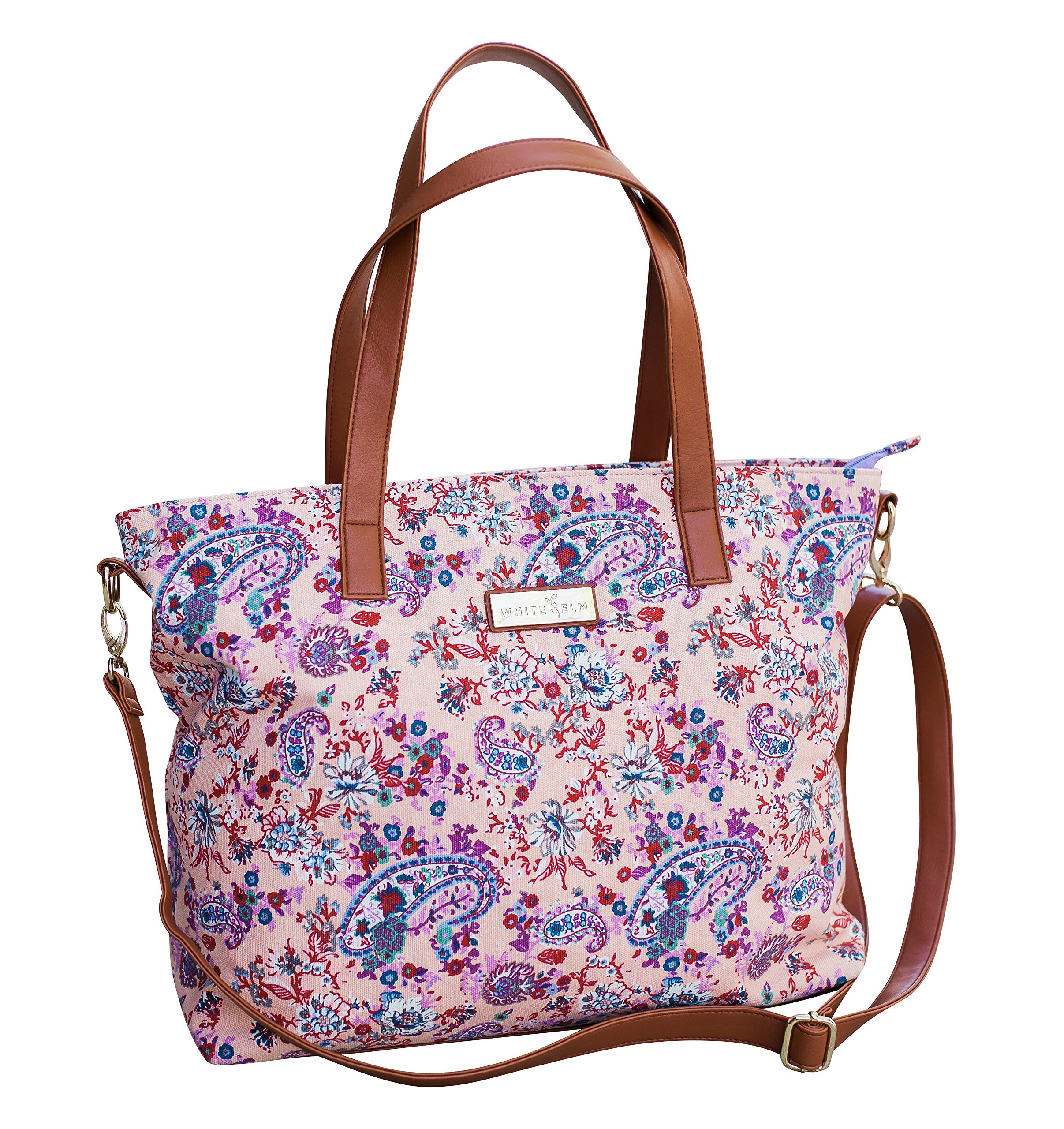 Dahlia Floral Tote Bag by White Elm | Limited Edition | Summer Beach/Pool Tote